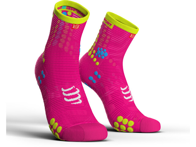 Compressport Pro Racing V3.0 Run High Strømper, fluo pink